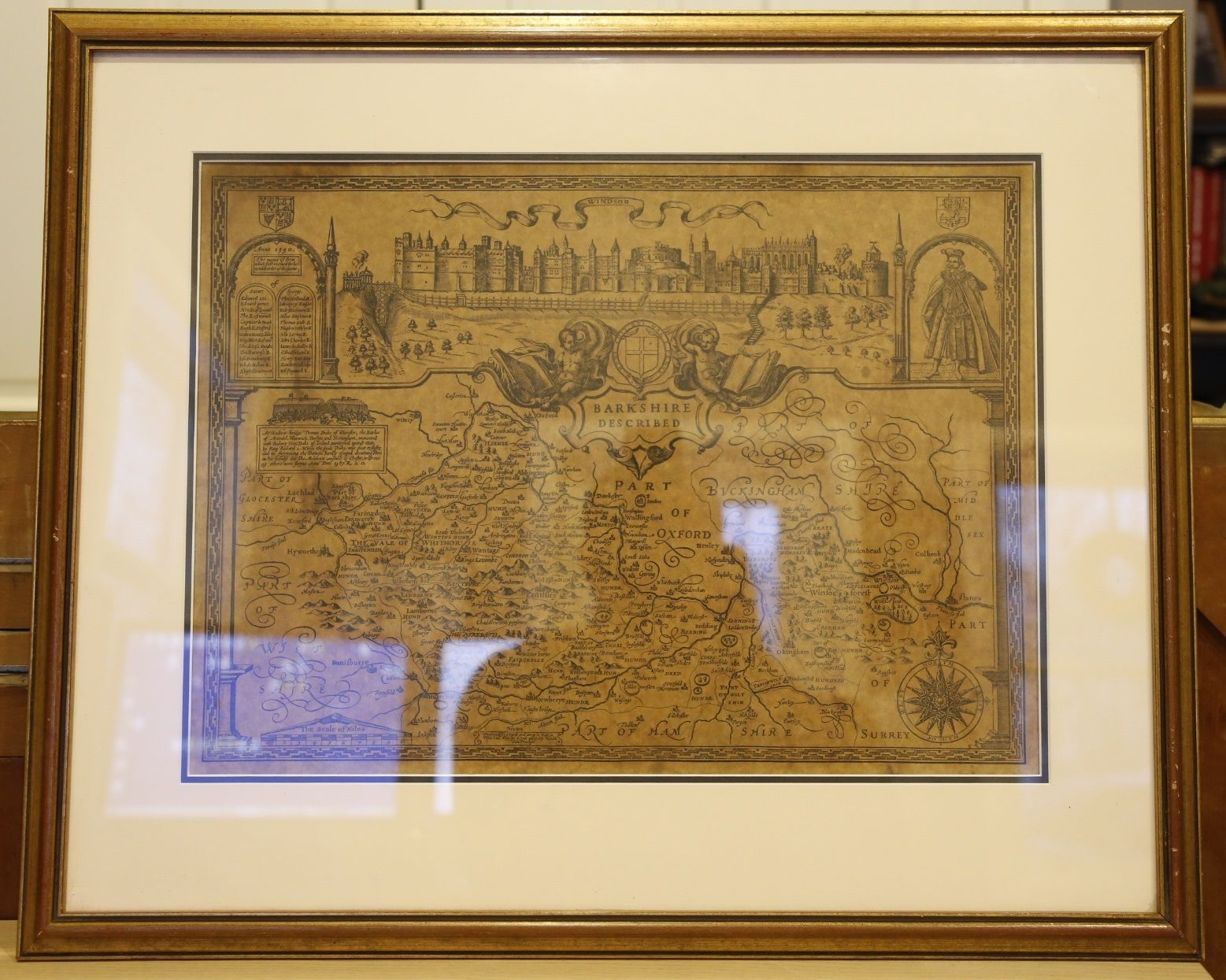 John Speed Map - Barkshire Described